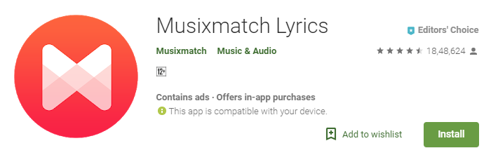 Musixmatch: Best Lyrics Apps for Android