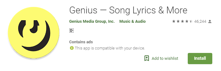 Genius: Best Lyrics Apps for Android