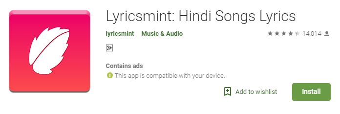 Lyricsmint: Best Lyrics Apps for Android