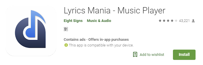 Lyrics Mania: Best Lyrics Apps for Android