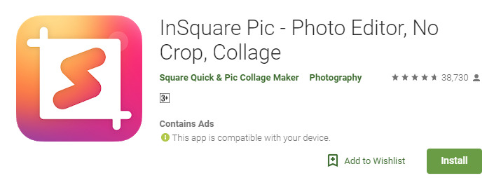 How to make a photo square without cropping