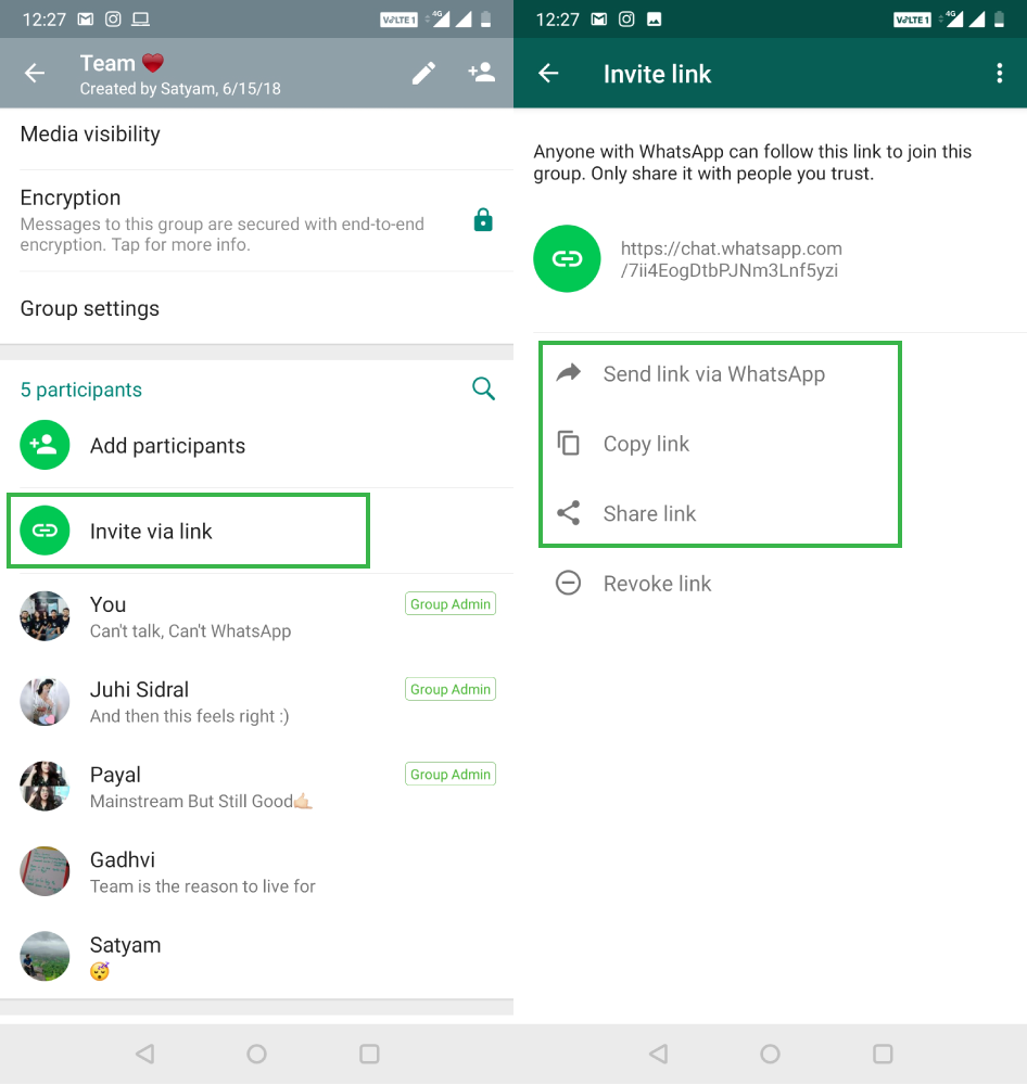 How To Create A WhatsApp Group Invite Link