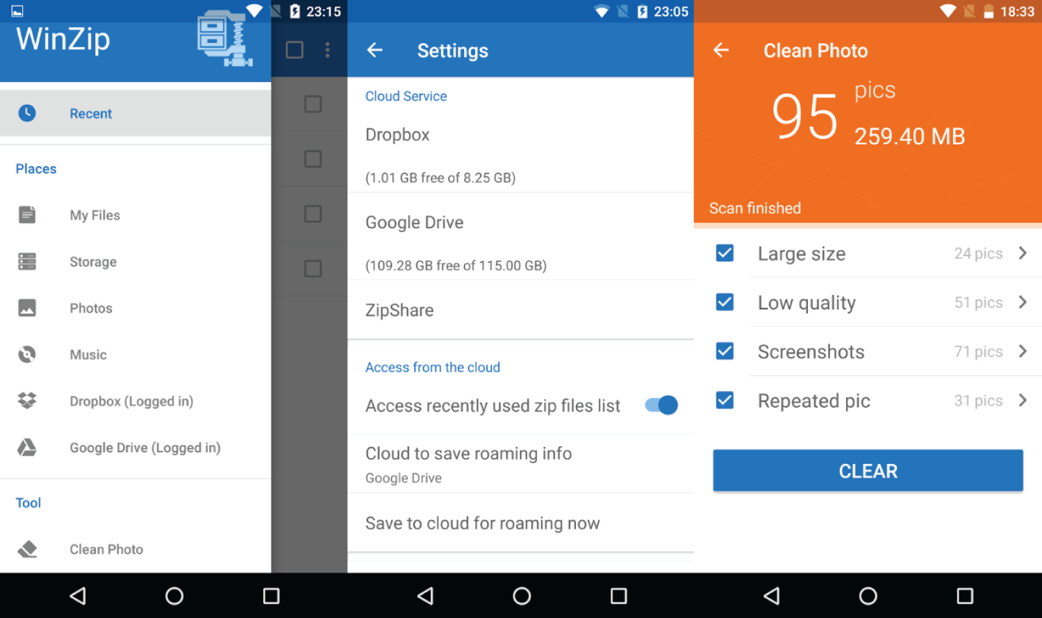 how to open zip and rar files on android