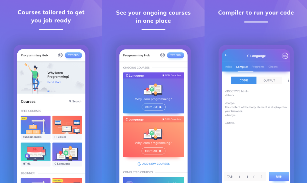 Top 20 Best Android Apps To Learn Programming 2019
