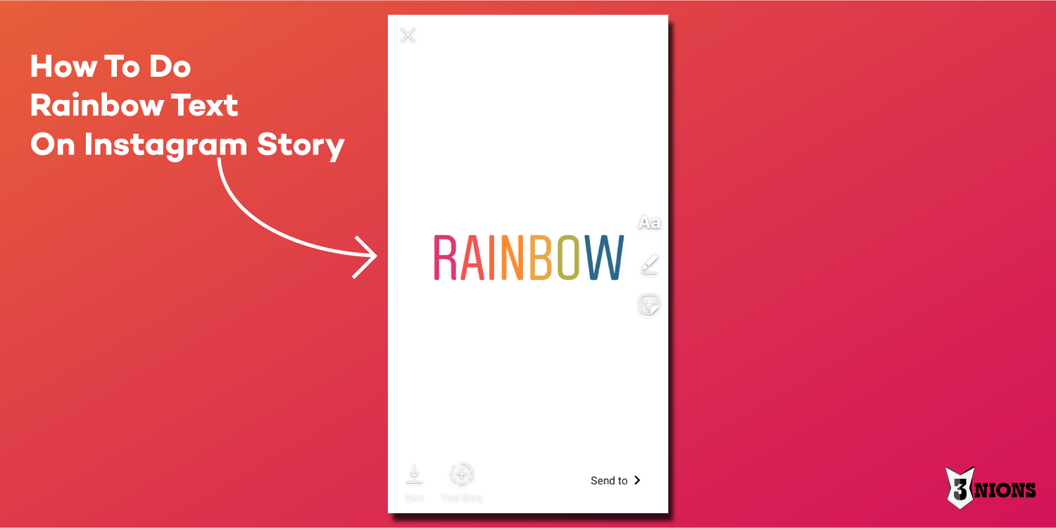 How To Do Rainbow Text On Instagram Story
