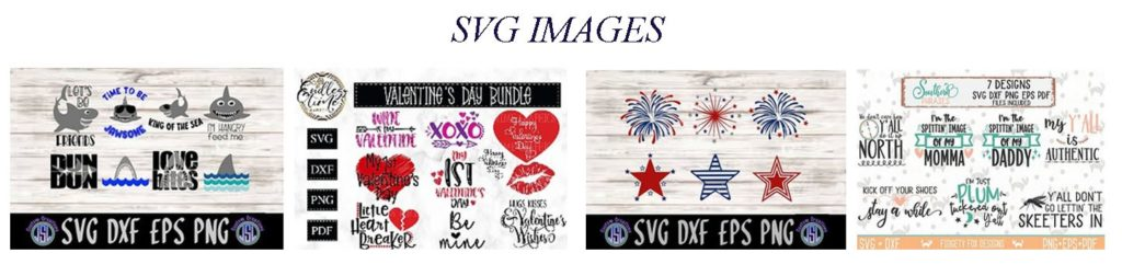 SVG Images and their offers at Design Bundles