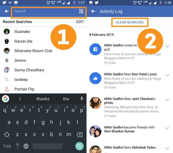 How To Delete Search History in Facebook App