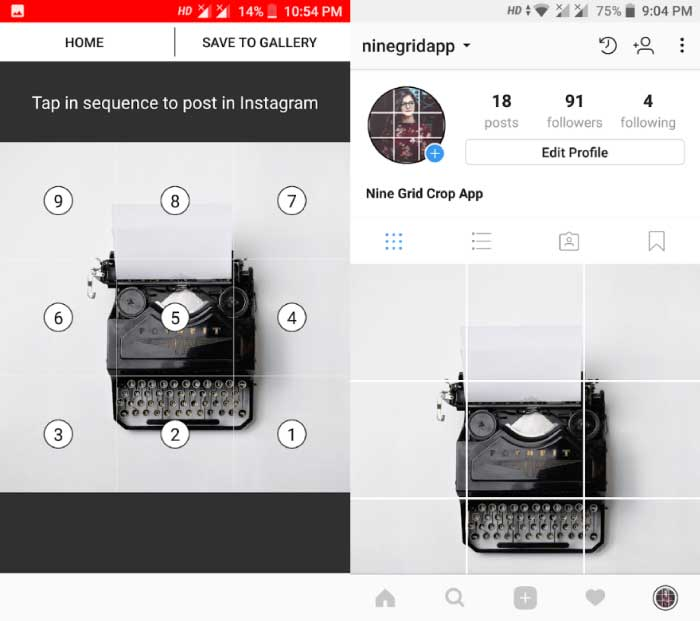 5 Best 9 Cut Instagram Apps for Android