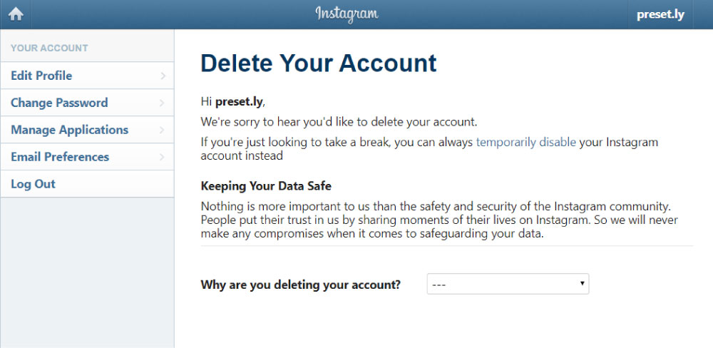How to Delete an Old Instagram Account without Knowing Password