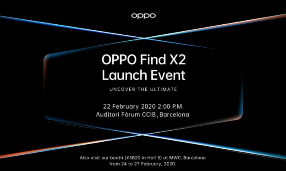 Oppo Find X2 Set to Launch on February 22 in Barcelona