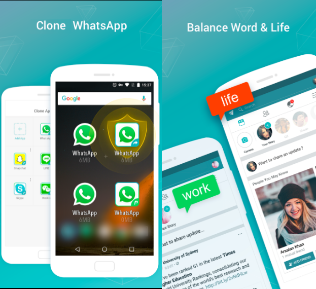 15 Best Clone Apps For Android to Manage Work & Personal Life