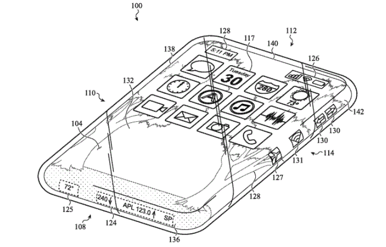 Apple is working on an iPhone with wrap-around screen design