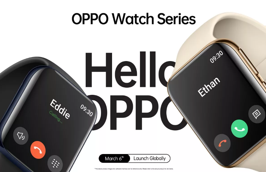Oppo's new smartwatch looksexactly similar to the Apple Watch