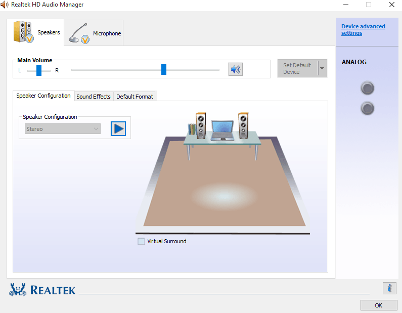 Fix Realtek HD Audio Manager Missing in Windows 10