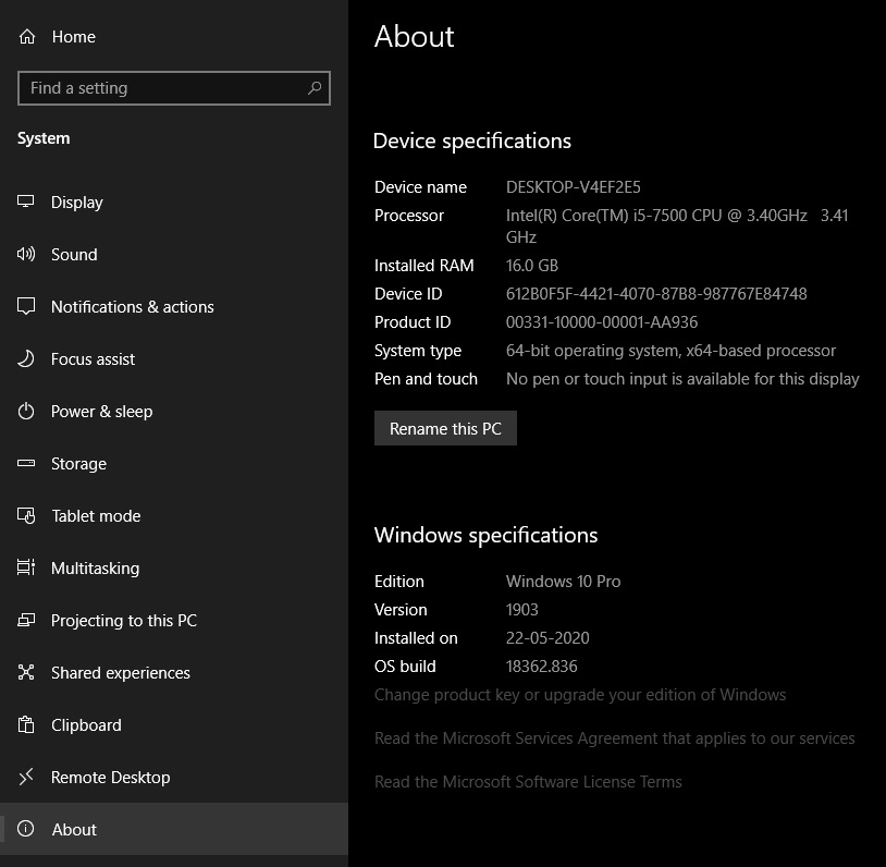 How to Check Specs in Windows 10