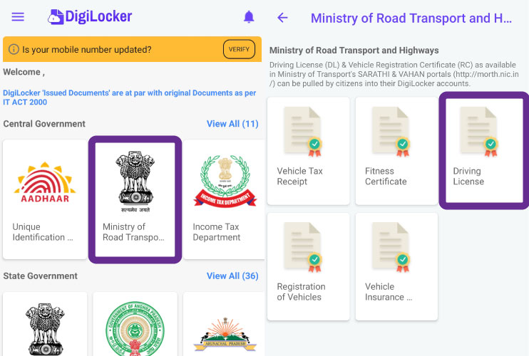 Download Driving Licence Online