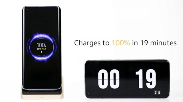 A 4,000mAh can be charged in just 19 minutes by Xiaomi's 80W wireless charger