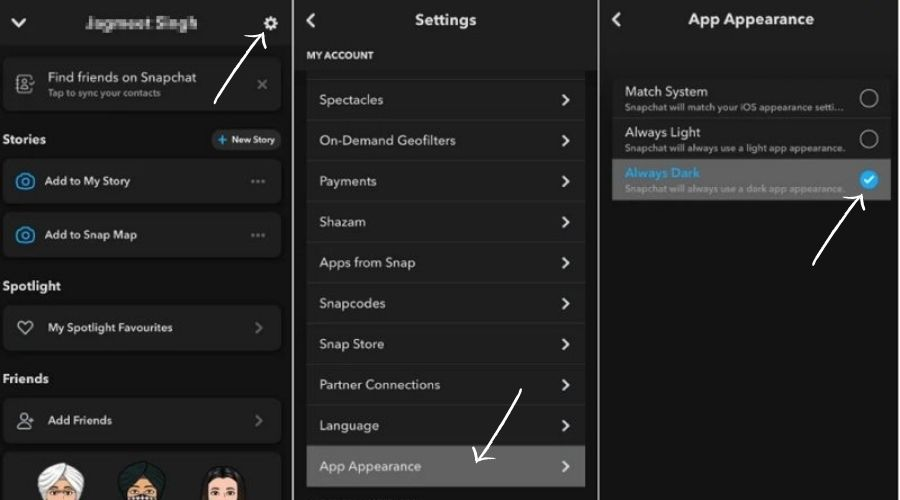 How to Make Your Snapchat Dark Mode on iPhone
